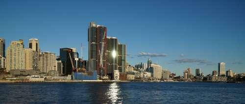 Sydney Australia Cityscape Skyline Harbor Water