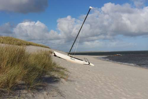 Sylt Beach Sailing Boat