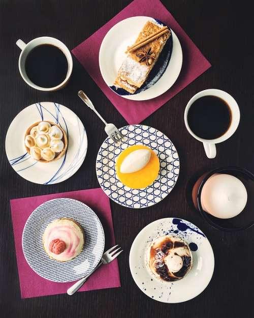 Table Dessert Coffee Cake Food Breakfast