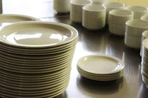 Tableware Plate Bowls Service Kitchen
