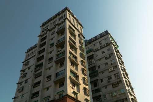 Taiwan Tainan Asia Building Blue Sky