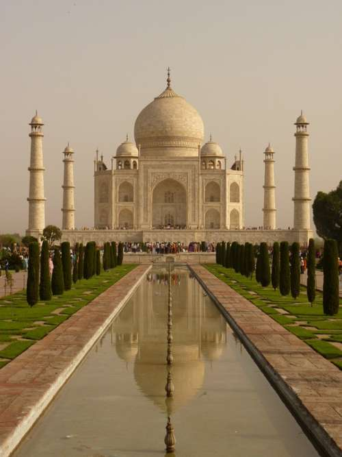 Taj Mahal Mausoleum Agra Uttar Pradesh Grave Mosque