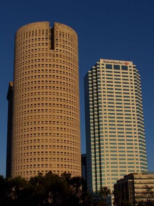 Tampa Florida Skyline Skyscrapers City Cityscape