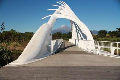 Taranaki Bridge Mountain New Zealand Nature