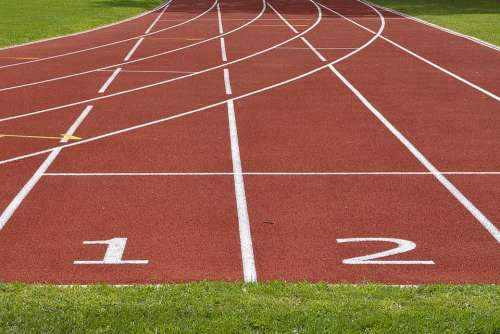 Tartan Track Career Athletics Start Run Race