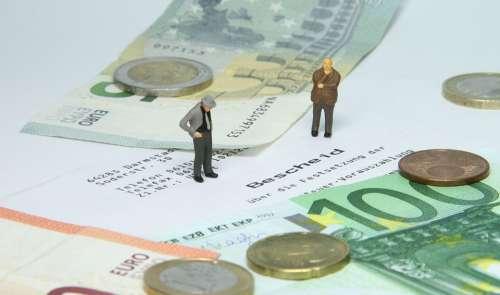 Tax Office Tax Assessment Miniature Figures Money