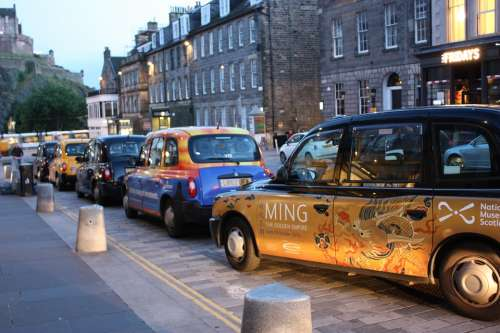 Taxi Autos Parking Space Park Parking Edinburgh