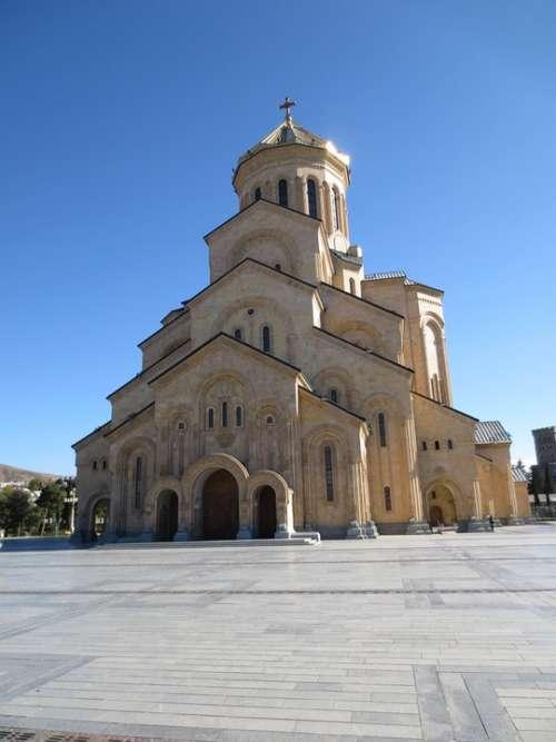 Tbilisi Sameba Sameba Cathederal Orthodox Georgia