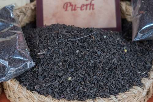 Tea Pu-Erh Brown Pu-Er China Dried Market Drink