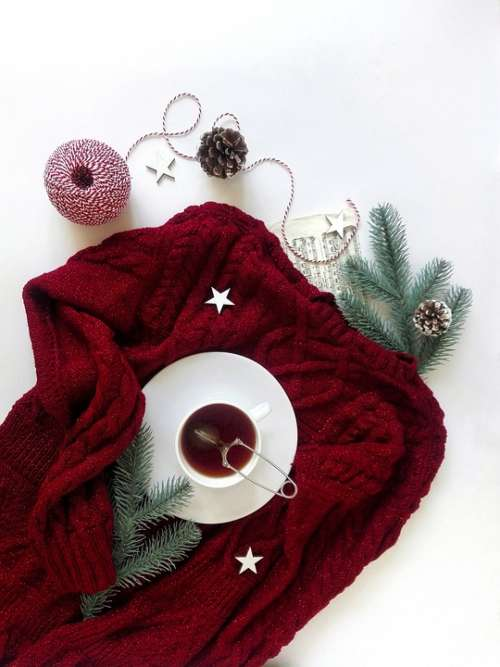 Tea Tea Party Winter Sweater Clothing Layout