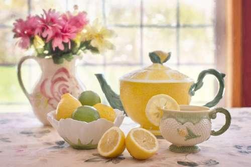 Tea Lemon Beverage Lemonade Still-Life Tea Pot