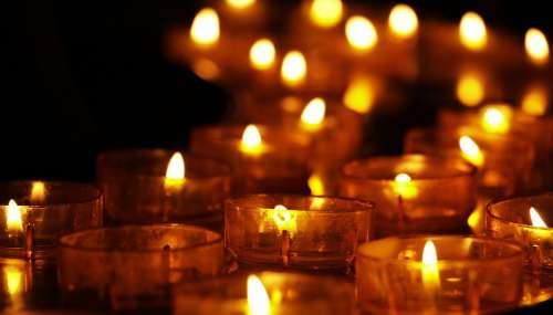 Tea Lights Candles Candlelight Faith Religion