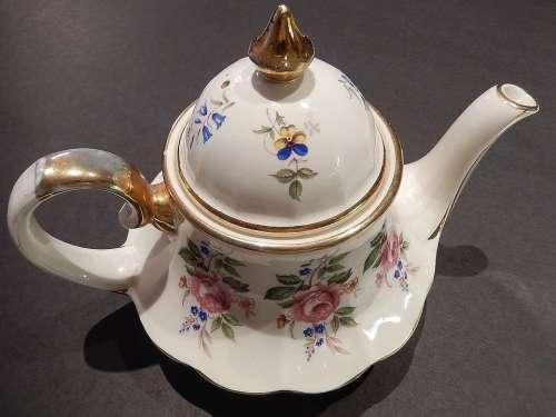 Tea Pot England Painted Ceramic China