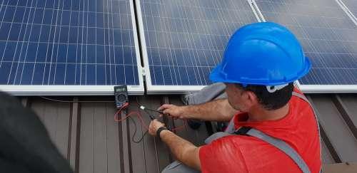 Technician Solar Panel Renewable Installation