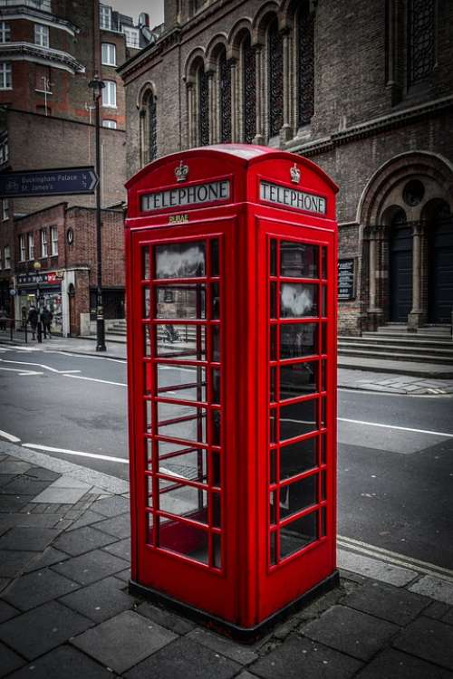 Telephone Booth Telephone English Traditional