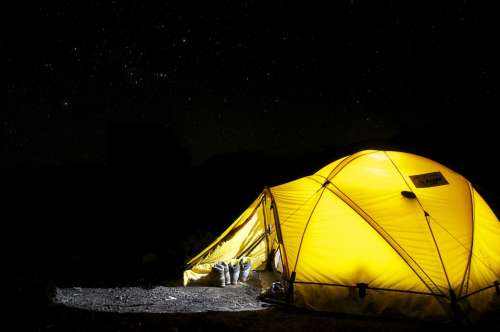 Tent Camp Night Star Camping Expedition Dome Tent