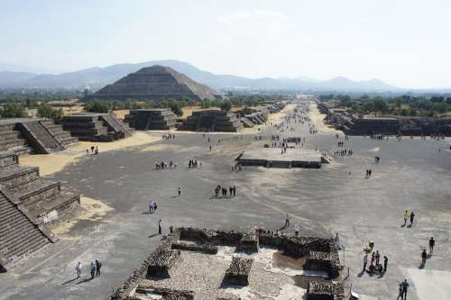 Teotihuacan Archeology Mexico Architecture Old