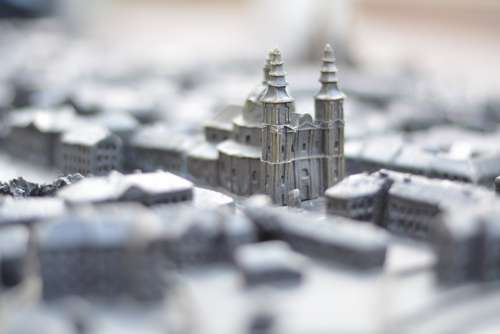 Ternopil Miniature Bronze Model Sculpture Tourism