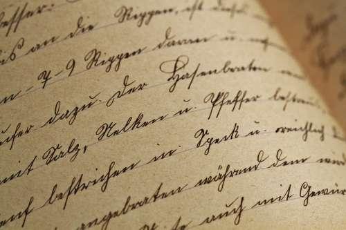 Handwriting Sütterlin Vintage Antique Font