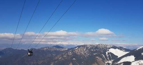 The Cable Car Chopok Clear Low Tatras Slovakia
