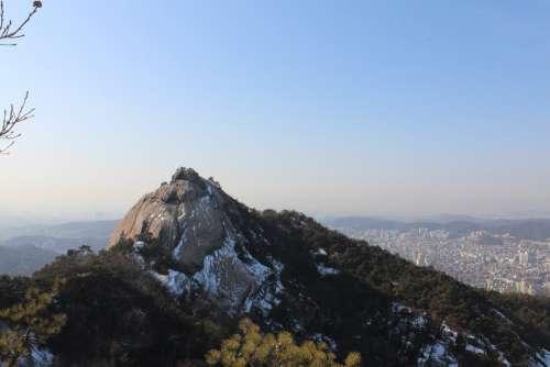 The City Of San Mountain Bukhansan Mountain