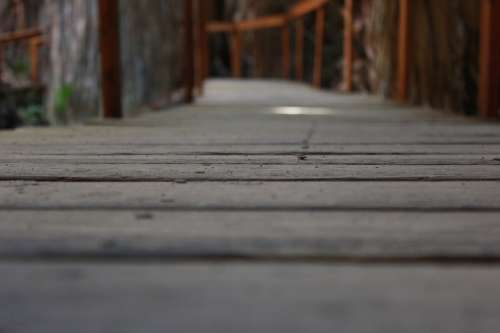 The Path Way Footbridge Wooden Bridge