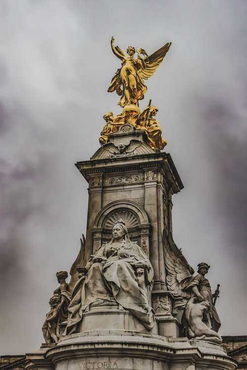 The Queen Victoria Memorial Buckingham Palace England