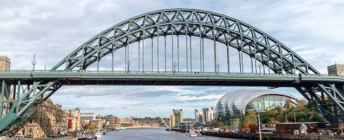 The Tyne Bridge Millennium Bridge The Sage