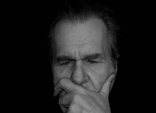 Thinking Thinking Work Man Face Black White Eyes