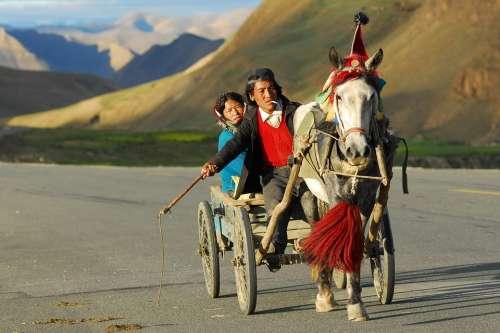 Tibet Transport Landscape Coach