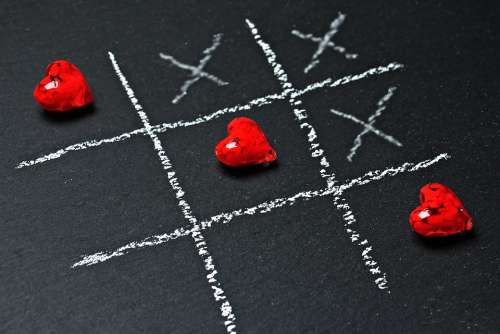 Tic Tac Toe Love Heart Play Ankreuzen