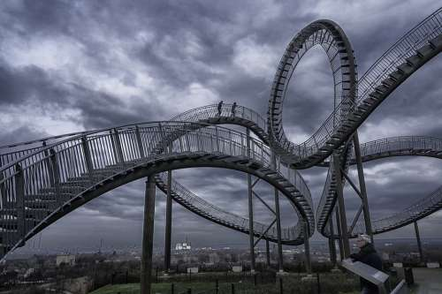 Tiger Turtle Duisburg Germany Architecture