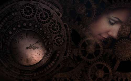 Time Fantasy Relative Clock Woman Machine Physics