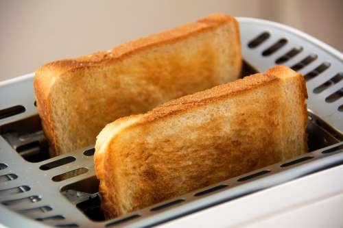 Toast Toaster Food White Bread Slices Of Toast Eat
