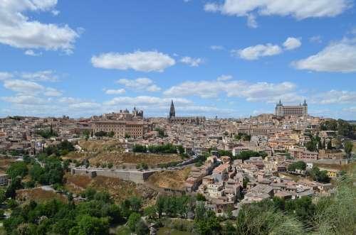 Toledo Spain Cityscape Town City