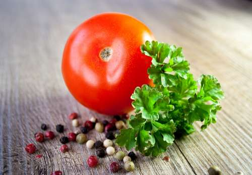 Tomato Vegetables Parsley Eat Tomato Sauce Cook