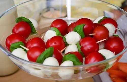 Tomato Mozzarella Cocktailtomaten Mozarella Snack