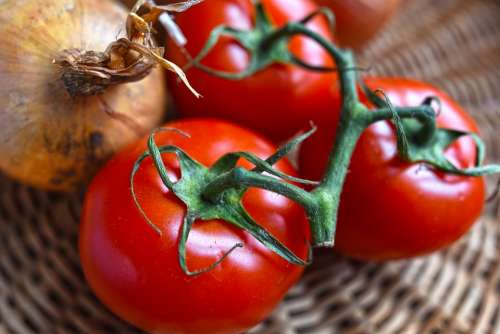 Tomatoes Vegetable Nutrition Healthy Vitamin Meal