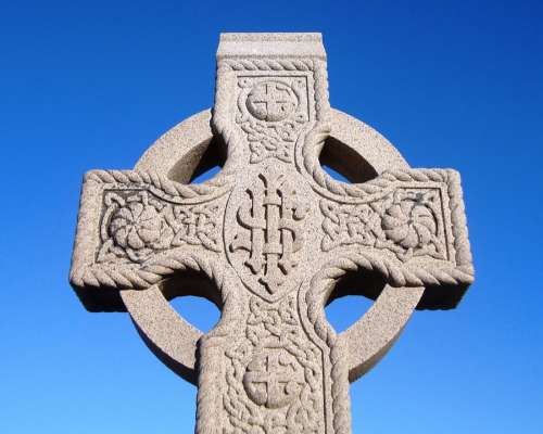 Tombstone Christianity Cross Sculpture