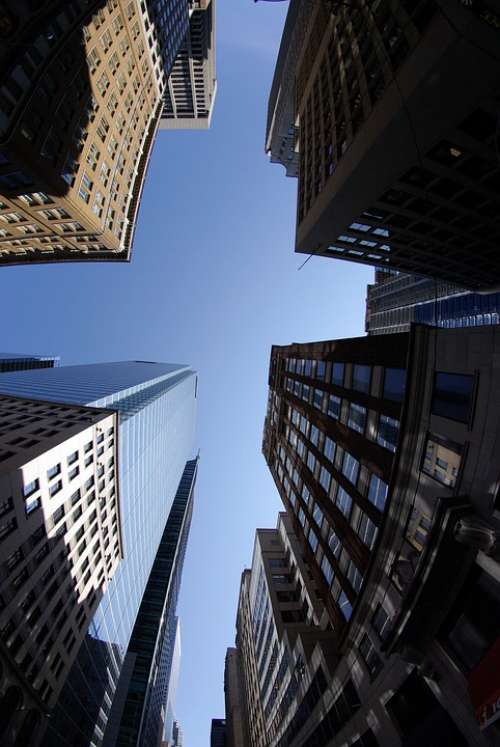 Toronto Financial District Tall Buildings Sky