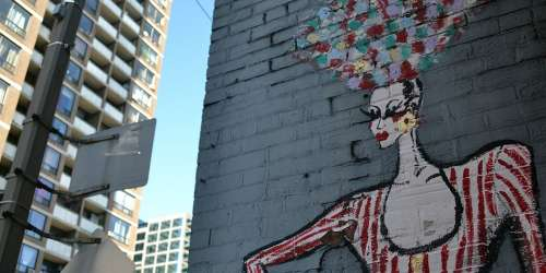 Toronto City Wall Painting Downtown Building