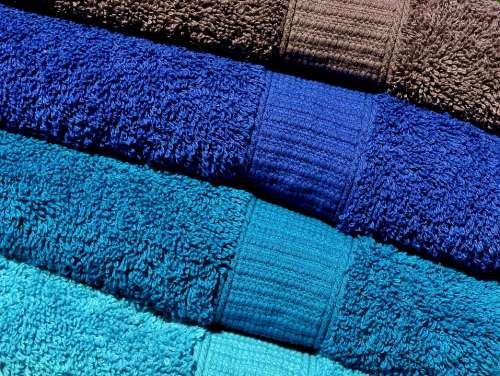 Towels Blue Turquoise Grey Colorful Structure