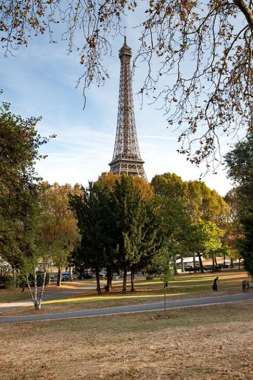 Tower Paris France Park Trees