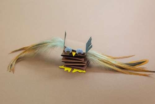 Toys Bird Tinker Handicraft Feather Nature Eyes