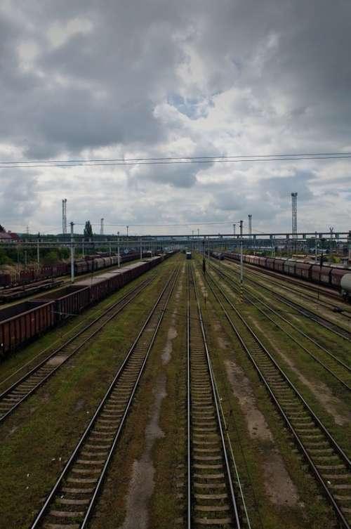Track City Landscape Clouds Heaven