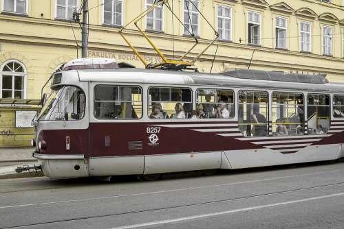 Traffic Tram Rails Train Road Urban Movement