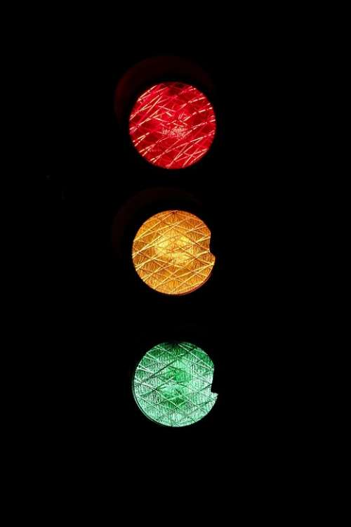 Traffic Lights Road Sign Red Yellow Green Wait Go