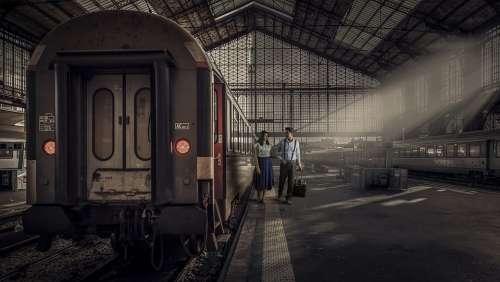 Train Transportation System Railway Train Station