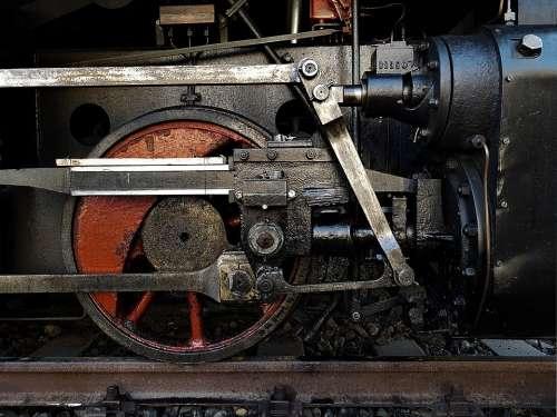 Train Round Railway Locomotive Steam Metal