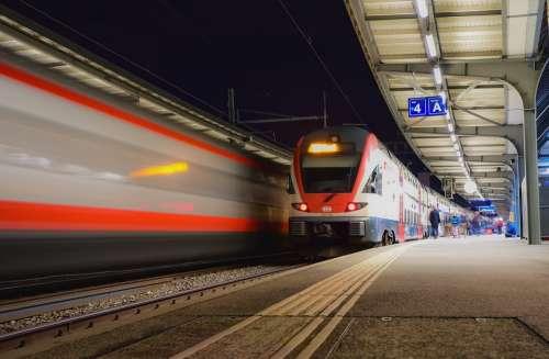 Train Station Wharf Transport Travel Commuting